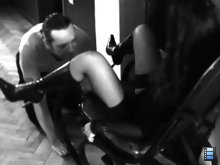 Mistress Bojana was completely satisfied by his obedient tongue..