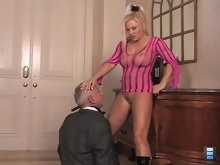 Mistress Charity is frustrated with her house slave. She will accept no excuses for his lack of performance.