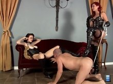 Goddess Amadahy has a task for her slave bitch - to make Mistress Tristan cum. And if he does not do so, his balls are going to pay the price!