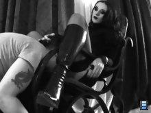 Mistress Bojana made herself comfortable in her rocking chair..