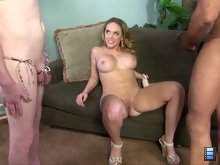 Kagney Linn Karter and black bull have stumbled upon an online ad where a cuckold is willing to pay to get humilated..