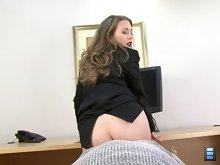 Office Ass Licker: She orders you to lock the door. She orders you to lay on your back and then she sits on your face and orders you to lick her ass or lose your job.