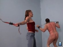 Miss Molly is a very gentle sadist, but she enjoys the process of beating and her slaves endure real suffering.