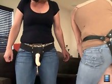 Domina Mom: She even slaps his ass and demands that he says he loves it. Say fuck me mistress, fuck me harder, Melissa demands and the slave complies.