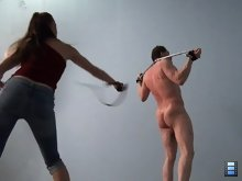 Then it's time to get busy, and for the next 17 minutes this slave endures absolute hell.