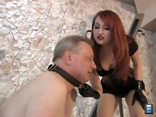 Mistress Kendra has decided to break her slave today. She is going to whip him until he breaks.