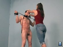 This slave worships Molly and he will do anything for her, so today he suffers a truly epic whipping to please her.